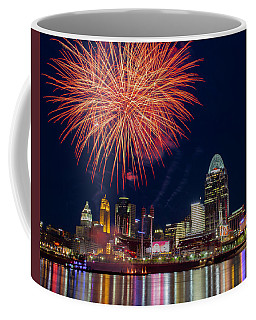 Cincinnati Fireworks Coffee Mug by Scott Meyer