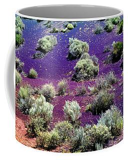 Cinder Hills Overlook, Volcanic Dune, Creosote Bushes, Wupatki N Coffee Mug by Wernher Krutein