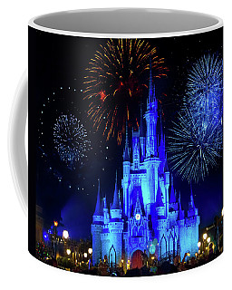 Cinderella Castle Fireworks Coffee Mug by Mark Andrew Thomas