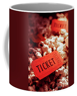 Cinema Ticket On Snackbar Food Coffee Mug