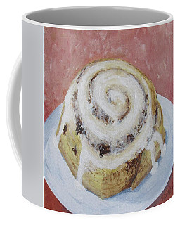 Coffee Mug featuring the painting Cinnamon Roll by Nancy Nale