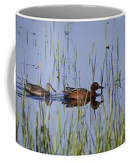 Cinnamon Teal Pair Coffee Mug