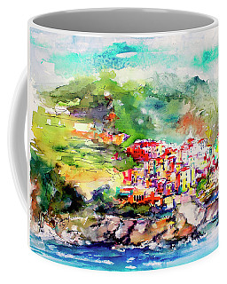 Cinque Terre Italy Corniglia Travel Memories Coffee Mug