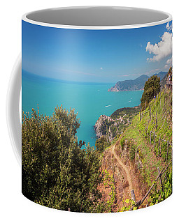 Cinque Terre Italy Vineyard Walk Coffee Mug