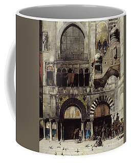 Circassian Cavalry Awaiting Their Commanding Officer At The Door Of A Byzantine Monument Coffee Mug
