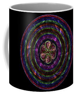 Coffee Mug featuring the digital art Circle Flower by Angie Tirado