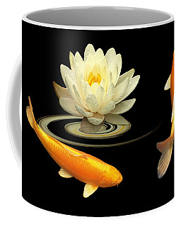 Circle Of Life - Koi Carp With Water Lily Coffee Mug