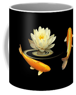 Circle Of Life - Koi Carp With Water Lily Coffee Mug