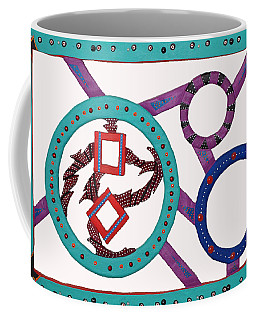 Coffee Mug featuring the mixed media Circle Time by Robert Margetts