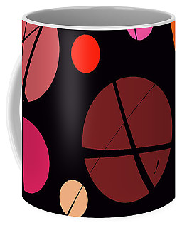 Circles With Lines Coffee Mug by Mary Bedy