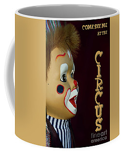 Coffee Mug featuring the photograph Circus Clown By Kaye Menner by Kaye Menner