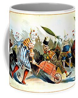 Circus Clowns - Vintage Circus Advertising Poster Coffee Mug