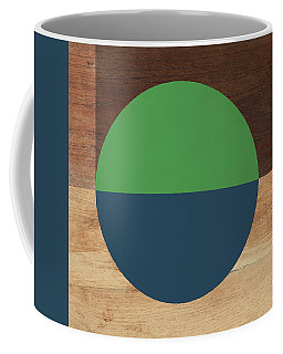 Cirkel Blue And Green- Art By Linda Woods Coffee Mug
