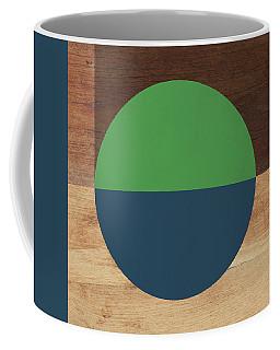Cirkel Blue And Green- Art By Linda Woods Coffee Mug