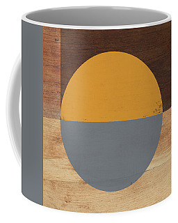 Cirkel Yellow And Grey- Art By Linda Woods Coffee Mug