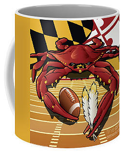 Citizen Crab Redskin, Maryland Crab Celebrating Washington Redskins Football Coffee Mug