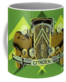 Coffee Mug featuring the digital art Citroen Traction Avant  by Jean luc Comperat