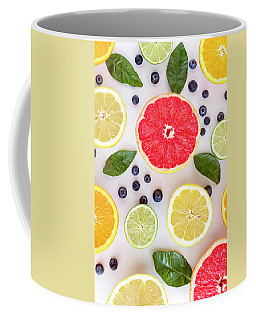 Citrus Fruits Coffee Mug by Teri Virbickis