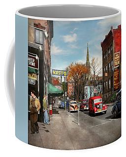 City - Amsterdam Ny - Downtown Amsterdam 1941 Coffee Mug by Mike Savad