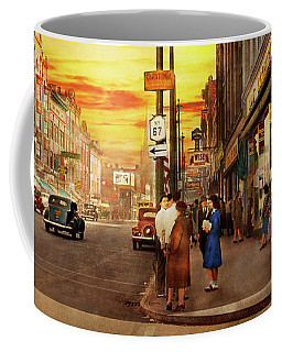 Coffee Mug featuring the photograph City - Amsterdam Ny - The Lost City 1941 by Mike Savad