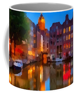 Coffee Mug featuring the painting City Block 900 Soft And Dreamy In Thick Paint by Catherine Lott