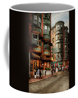 Coffee Mug featuring the photograph City - Boston Ma - The North Square by Mike Savad