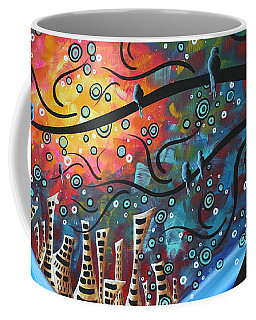 City By The Sea By Madart Coffee Mug