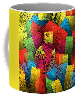 Coffee Mug featuring the digital art City Center by Silvia Ganora