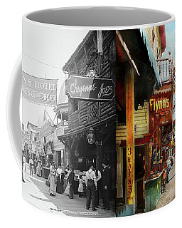 Coffee Mug featuring the photograph City - Coney Island Ny - Bowery Beer 1903 - Side By Side by Mike Savad