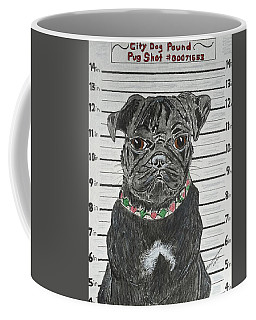 City Dog Pound Pug Shot Coffee Mug
