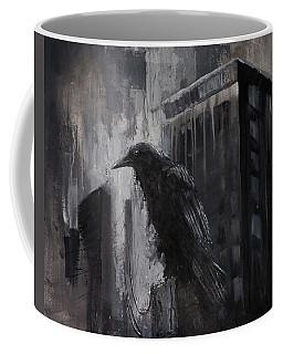 City Dweller Raven Dark Gothic Crow Wall Art Coffee Mug