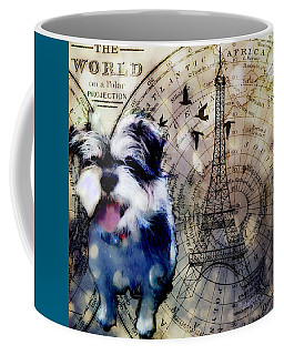 Coffee Mug featuring the digital art City Girl Goes To Paris by Delight Worthyn