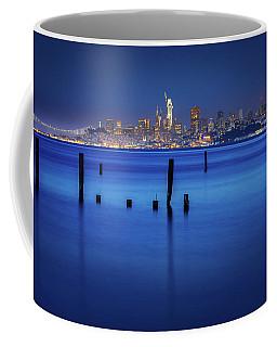 City In Blue  Coffee Mug