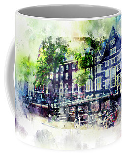 city life in watercolor style - Old Amsterdam  Coffee Mug