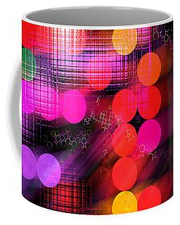 Coffee Mug featuring the digital art City Lights by Fran Riley
