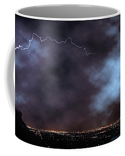 Coffee Mug featuring the photograph City Lights Night Strike by James BO Insogna