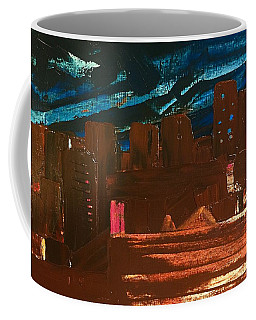 Coffee Mug featuring the painting City Lights by Norma Duch