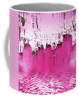 Coffee Mug featuring the mixed media City Limits by Sir Josef - Social Critic - ART