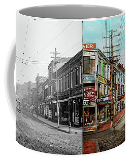 Coffee Mug featuring the photograph City - Ma Glouster - A Little Bit Of Everything 1910 - Side By Side by Mike Savad