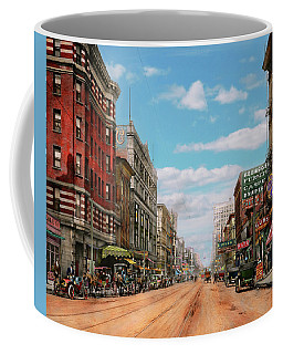 Coffee Mug featuring the photograph City - Memphis Tn - Main Street Mall 1909 by Mike Savad