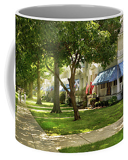 Coffee Mug featuring the photograph City - Naval Academy - A Walk Down Captains Row by Mike Savad