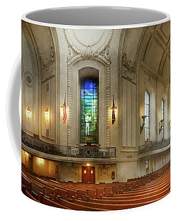 Coffee Mug featuring the photograph City - Naval Academy - God Is My Leader by Mike Savad