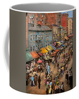 City - Ny - Jewish Market On The East Side 1890 Coffee Mug
