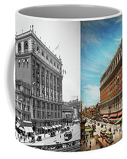 Coffee Mug featuring the photograph City - Ny New York - The Nation's Largest Dept Store 1908 - Side by Mike Savad