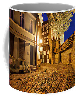 City Of Torun At Night Coffee Mug