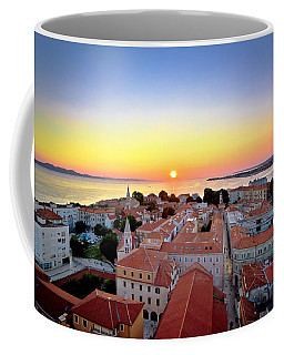 City Of Zadar Skyline Sunset View Coffee Mug