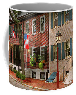 Coffee Mug featuring the photograph City - Pa Philadelphia - American Townhouse by Mike Savad