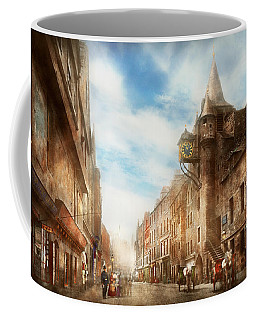 Coffee Mug featuring the photograph City - Scotland - Tolbooth Operator 1865 by Mike Savad