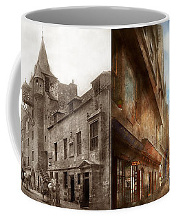 Coffee Mug featuring the photograph City - Scotland - Tolbooth Operator 1865 - Side By Side by Mike Savad
