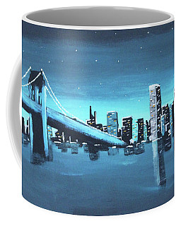 City Skyline Coffee Mug by Cyrionna The Cyerial Artist
